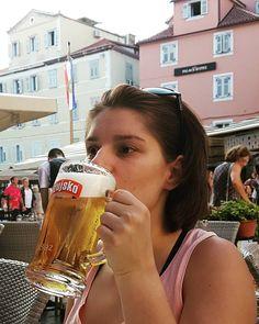 OŽUJSKO  There is no better way to officially  start my vacation than ordering this all-time Croatian classic lager  #beer #pivo #cerveza #cerveja #biere #bier #piwo #пиво #birra #thebeerwoman #ozujsko #trip #split #croatia #hrvatska #lager #croatianbeer #vacation #summertime #summer #sunshine #enjoy #beerlover #beerpics #lovebeer #beergirl #beerstagram #notveganbutbeergan
