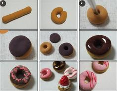 Пончики и пирожные из глины | Уроки лепки