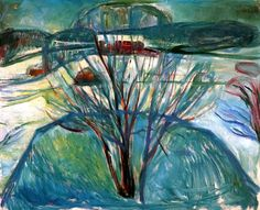 Edvard Munch - Winter Night, 1921