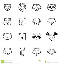animal-icons-set-vector-illustration-wild-53787637.jpg (1300×1390)