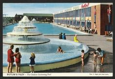 The Outdoor Pool at Butlin's Filey Holiday Camp in Holiday Day, Holiday Places, Butlins Holidays, British Holidays, Pool Rules, Seaside Resort, Vintage Holiday, Vintage Postcards, Outdoor Pool