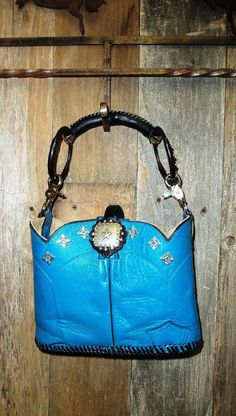 Turquoise western cowboy boot purse with by Diamond57cowboyboots, $225.00