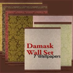 Mod The Sims - Damask Wall Set: 7 Wallpapers