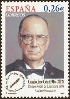 Camilo José Cela y Trulock, Marquis of Iria Flavia ( 1916 – was a Spanish novelist 'Nobel Prize in Literature Post stamp printed in Spain Hans Christian, Camilo Jose Cela, Nobel Prize In Literature, Nobel Prize Winners, Stamp Printing, Nobel Peace Prize, Vintage Stamps, Inspirational Books, Stamp Collecting