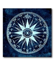 Nautical Compass Wrapped Canvas