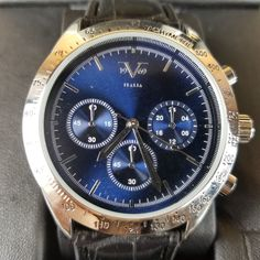Versace V 1969 Italia Watch Black/Silver/Blue Style 37VM210401A