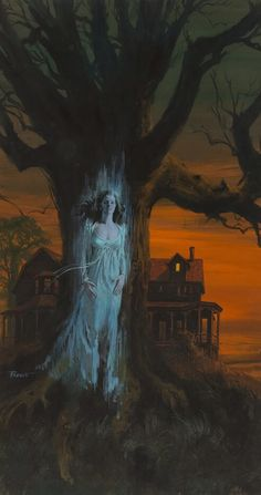 "Victor Prezio, ""Image of a Ghost,"" paperback cover art, Gothic Horror, Retro Horror, Arte Horror, Vintage Horror, Horror Art, Horror Films, Vintage Gothic, Gothic Art, Fantasy Kunst"