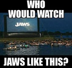 Who would watch Jaws like this?
