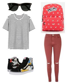 """#90"" by komorebisunshine on Polyvore featuring Vans, Glamorous, Ray-Ban, women's clothing, women's fashion, women, female, woman, misses and juniors"