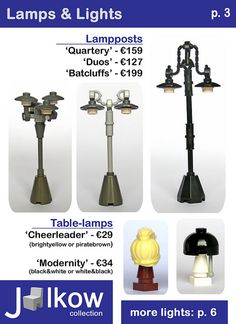 Lego lamps and lights idea