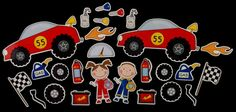 Racer Kids Pit Stop Magnet Board Activity Set by byMaree on Etsy, $20.00