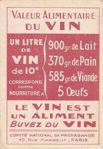 Alors un litre de vin pour souper!
