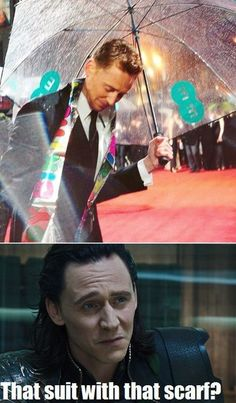 """I knew someone would do a """"Silently-Judging-You"""" Loki for that picture of Tom at this year's BAFTAs... Bwahahaha"""