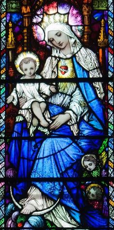 Virgin and Child (stained glass)