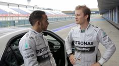 Allianz Safety Facts With Lewis Hamilton And Nico Rosberg (VIDEO)