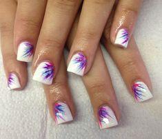 Fun flared starburst nails