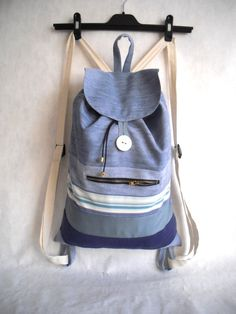 Light blue denim backpack purse Recycled by Bagsandclothingstore, $50.00