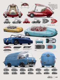 Original concept art for cars of Fallout a game based around retro futurism Fallout Art, Fallout Concept Art, Carros Vw, Arte Sci Fi, Fall Out 4, Futuristic Cars, Car Drawings, Car Sketch, Future Car