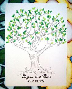 wedding tree fingerprint guestbook Tree Wedding, Wedding Stuff, Wedding Gifts, Fingerprint Tree, Wedding Inspiration, Wedding Ideas, Save The Date Invitations, Guest Books, Rustic Elegance
