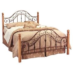 Coal Creek Wood and Metal Headboard