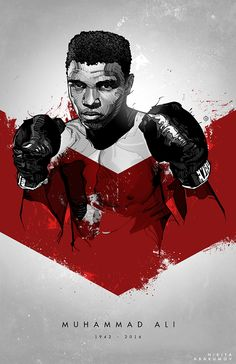 Float like a butterfly, sting like a bee. The hands can't hit what the eyes can't see. R.I.P. Muhammad Ali, the greatest boxing champion of all times.