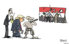 Syria by cartoonist Martin Sutovec published on 2017-04-09 08:29:06 at Cagle.com. Martin Sutovec (alias Shooty) is a well-known caricaturist and cartoonist in Slovakia, and draws for SME Daily