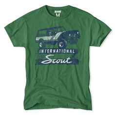 International Scout Vintage T-Shirt by Tailgate International Travelall, International Scout, Jeep Scout, Cool T Shirts, Tee Shirts, Cool Graphic Tees, Mens Outfitters, Apparel Design, Shirt Designs
