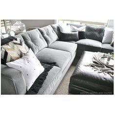 arhaus.com flanders sectional in silver $3100  sc 1 st  Pinterest : arhaus sectional - Sectionals, Sofas & Couches