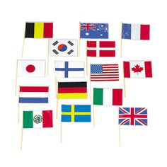 Can use for marking locations on maps-Flags of All Nations - OrientalTrading.com