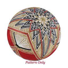 Temari pattern for sale Unfolding Kiku Temari