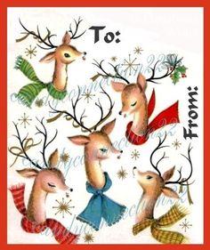 raindeer clip art | ePier - Santas Reindeer Vintage Christmas Clipart