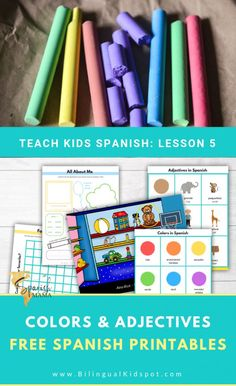 Lesson 5 of our Spanish for Kids series hosted by Spanish Mama is all about learning colors in Spanish, adjectives and Gustar. Spanish Vocabulary, Spanish Language Learning, Learn A New Language, Teaching Spanish, Teaching Kids, Preschool Spanish, Dual Language, Foreign Language, Toddler Learning