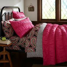 Ruched Quilt + Sham, Pink Magenta from PBteen. Saved to Room Things. Shop more products from PBteen on Wanelo. Teen Bedding, Pink Bedding, Quilt Bedding, Teen Bedroom, Duvet, Bed Quilts, Bedroom Ideas, Magenta Bedrooms, Pottery Barn Teen