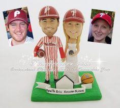 Philadelphia Phillies Wedding Cake Topper, Philadelphia Phillies Cake Topper