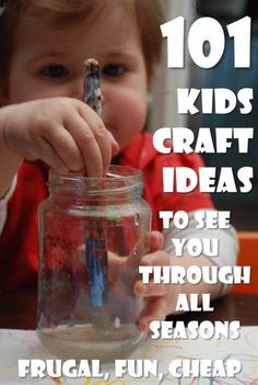 101 ideas? More like 300+ FANTASTIC crafts for kids. Great kids craft ideas to keep you busy all year from http://www.redtedart.com