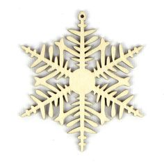 Cold Snap - Laser Cut Wood Snowflake in Multiple Sizes and Quantity Discounts