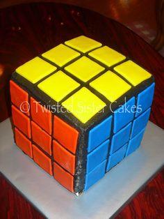 Rubics cube cake...www.twistedsistercakes.com