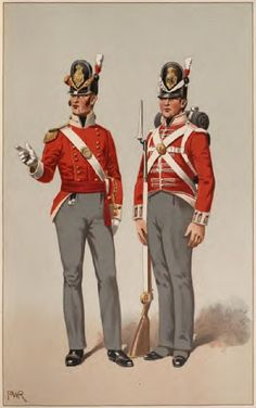 British Officer and a private 1812 40th