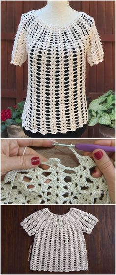 Crochet Easy Beautiful Blouse