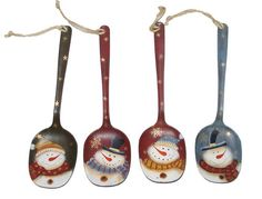 Image detail for -Snowman Spoon Ornaments - 4 Assorted Styles at Menards