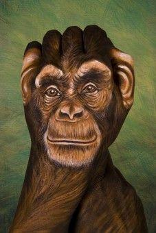 Chimpanzee, from Handimals series by Guido Daniele (www.guidodaniele.com)