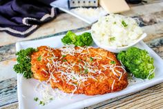 Parm Crusted Chicken / My Way #Parmesan #chicken #Chicken breast #parmesan crusted #justapinchrecipes