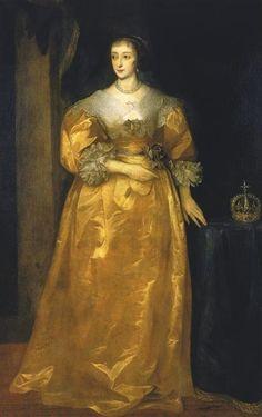 Henriette de France by Sir Anthonis van Dyck (Pinacoteca del Castello Sforzesco)   Grand Ladies   gogm