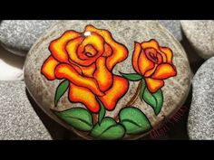 Sunset Roses - YouTube Stone Painting, Painted Rocks, Sunset, Roses, Trees To Plant, Youtube, Thats Not My, My Etsy Shop, Canada