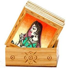 Aapno Rajasthan 7 Pc Wood Coasters Set - Brown from Aapno Rajasthan | Home and Kitchen | Dining | Mobile Shopping India | Homeshop18.com