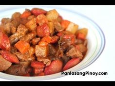 Menudo Recipe Ingredients 2 lbs pork 1/2 lb pig's liver 1 cup carrots, diced 1 cup potatoes, diced 1/2 cup soy sauce 1/2 piece lemon 1 small...