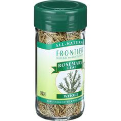 Frontier Herb Rosemary Leaf - Whole - Extra Fancy Grade - .78 oz - Rosemarys woody scent and minty flavor bring a balsamic deliciousness to sweet and savory dishes alike. Botanical Name: Rosmarinus officinalis L.Product Notes: Minty-sweet, aromatic rosemary, which means dew of the sea in Latin, is often used in Italian and Mediterranean cooking. Try it in stews, marinades, meat and potato dishes, tomato-based sauces, breads, pizza and apple jelly.Origin: SpainKosher: KSA CertifiedCommon…