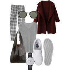 Classic saturday by camilla-tartaglia on Polyvore featuring polyvore, mode, style, Zara, Diane Von Furstenberg, Vans, CÉLINE, Klein & more and Ray-Ban