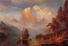 albert bierstadt - rocky mountains