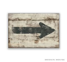 Distressed vintage looking arrow wooden sign handmade arrows